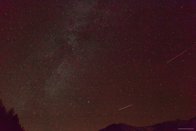 Meteor's through the Milky Way near Dixon Montana
