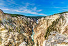 Canyon Falls and the Grand Canyon of Yellowstone from Artists point.