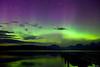 Northern Lights & Shooting Star above Lake Mc Donald in Glacier National Park