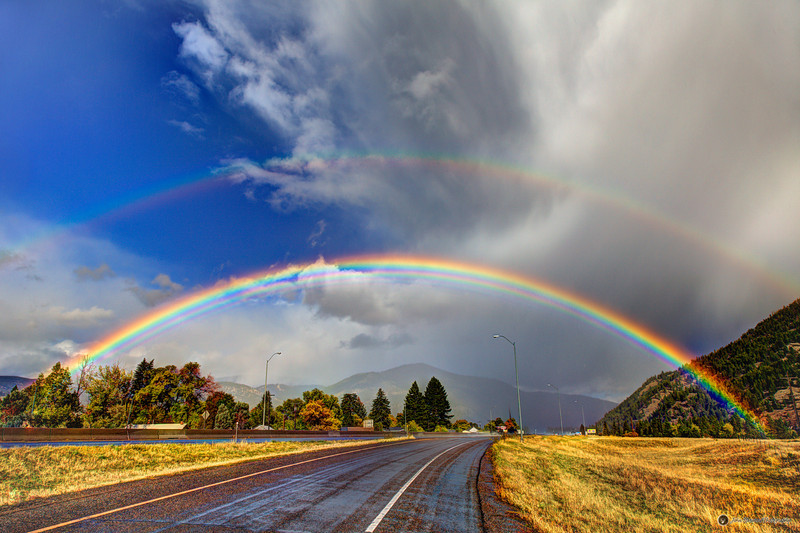 Double Rainbow in East Missoula - Photo of the Month for October
