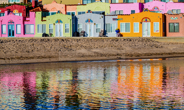 Reflections in Pastel, Capitola Village, California