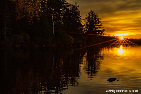 Sunset on Kettle Pond