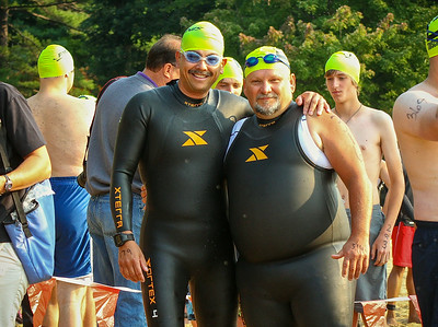 First Tri--Sanford and Sun 2014--Two first timers...with Tim Strong.