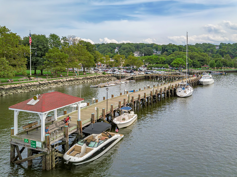 Aerial view Northport Docks