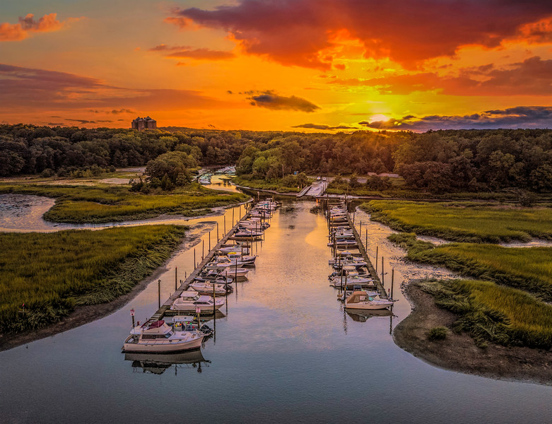 August Sunset at the Marina