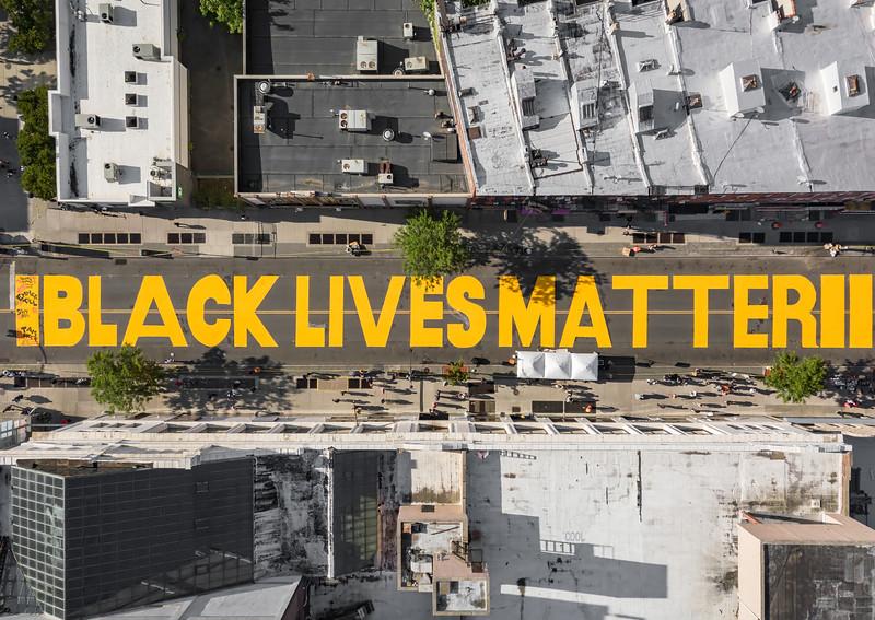 Black Lives Matter- Street Mural