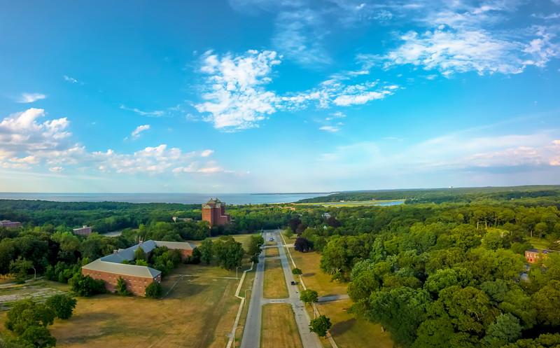 The Boulevard. Kings Park Psychiatric Center (lower altitude)