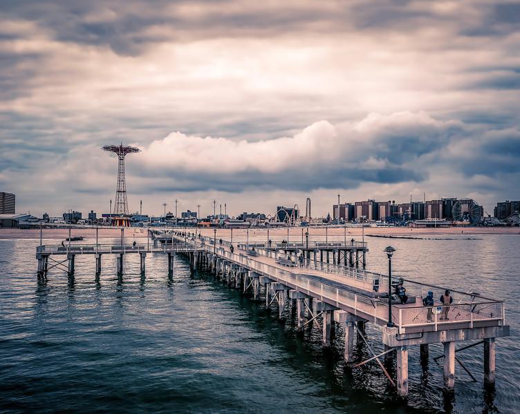 Surreal Cony Island Pier