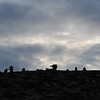 (2176) Inukshuks against evening sky in Igloolik