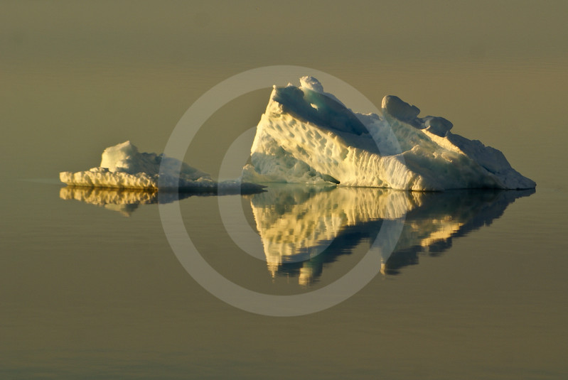 (552) Iceberg reflection in the calm waters of the Beaufort Sea