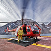 (283) Coast Guard personnel prepare the Amundsen's helicopter for a flight in Gibbs Fjord, Baffin Island, Nunavut