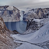 (211) The CCGS Amundsen sailing the majestic Gibbs Fjord, Baffin Island, Nunavut