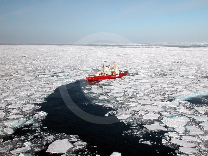 (48) The CCGS Pierre Radisson breaking ice in Amundsen Gulf