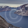 (208) The CCGS Amundsen sailing the majestic Gibbs Fjord, Baffin Island, Nunavut