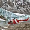(237) ArcticNet scientist reach remote glaciers in Makinson Inlet, Ellesmere Island, Nunavut using the ship helicopter
