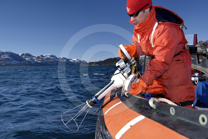 (88) Scientist deploying SCAMP in Anaktalak fjord, northern Labrador