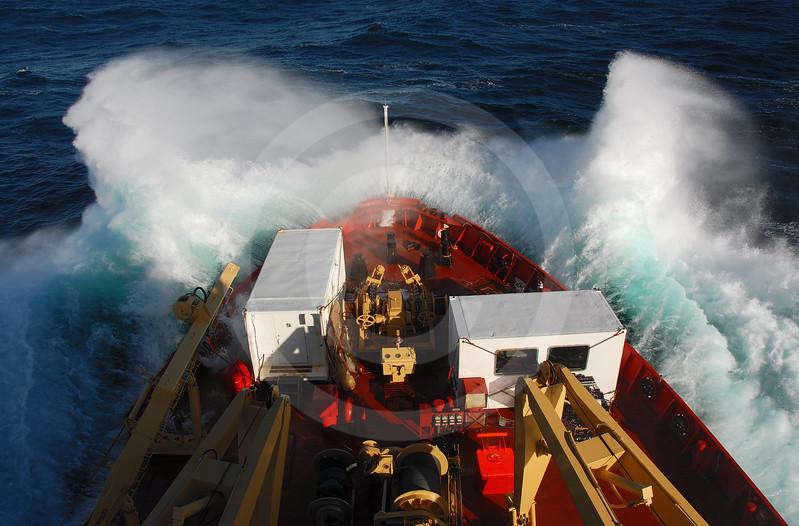 (200) CCGS Amundsen navigating in high seas