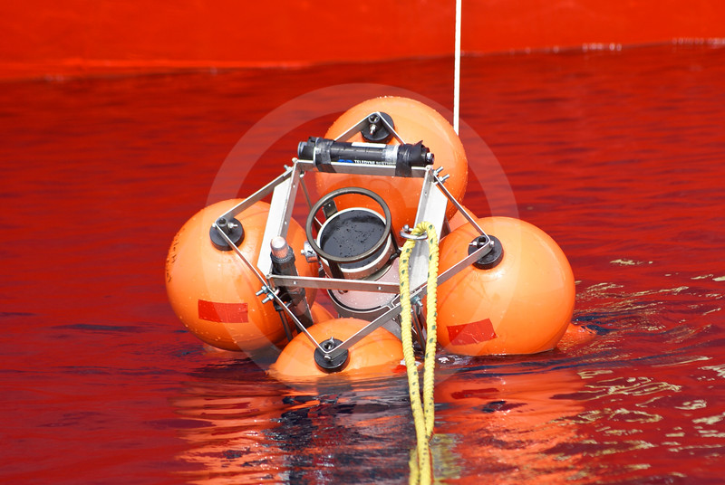 (582) Deployment of an ArcticNet oceanographic mooring from the CCGS Amundsen in the Beaufort Sea