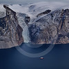 (218) The CGGS Amundsen sailing the majestic Gibbs Fjord, Baffin Island, Nunavut