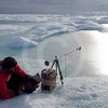 (68) Scientist taking ice measurement
