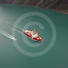 (160) CCGS Amundsen and the launch vessel CSL Heron in Oliver Sound, Nunavut