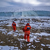 (244) ArcticNet scientists sample the meltwater flowing from a glacier in Makinson Inlet, Ellesmere Island, Nunavut