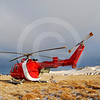 (193) Canadian Coast Guard helicopter supporting fieldwork near the Horton River, NT