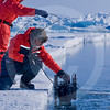 (345) Scientists collect marine samples from the flaw lead during the CFL program
