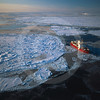 (300) CCGS Amundsen sails through ice in the Canadian Arctic Ocean