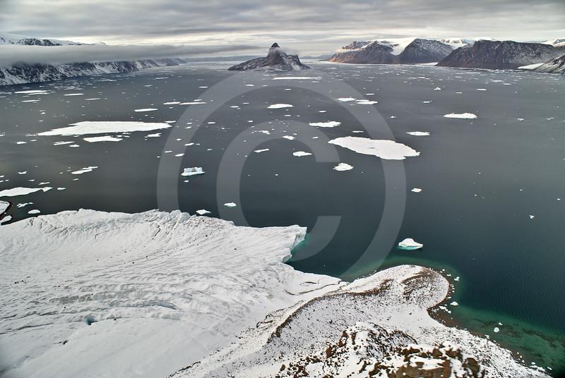 (251) Glacier flowing into Makinson Inlet, Ellesmere Island, Nunavut