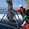 (607) Box core sampling on board the CCGS Amundsen
