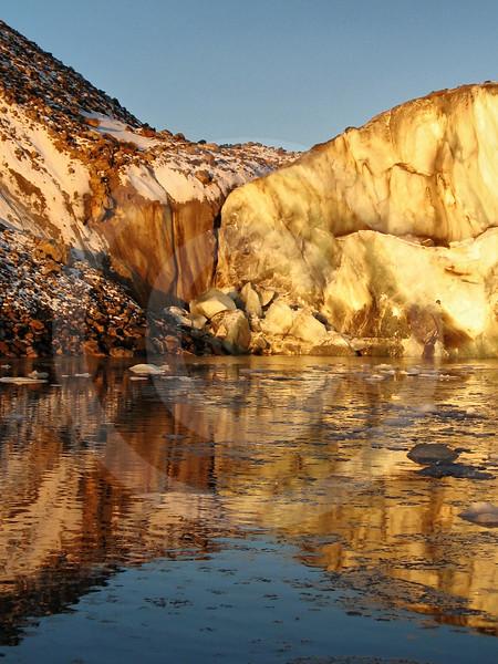 (150) Sunset reflecting on Belcher glacier