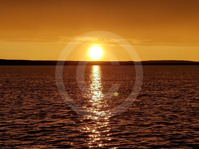 (2213) Sunset between Bar C and Lucas point
