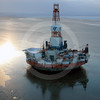 (112) Kulluk drilling platform in the Beaufort Sea