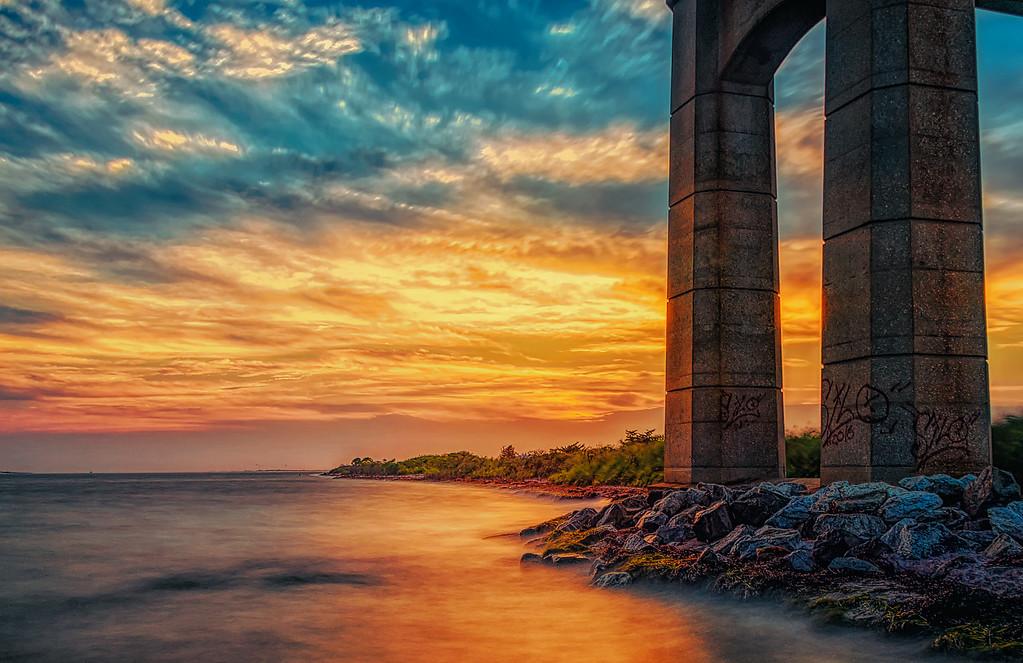 Colorful Robert Moses Causeway Bridge