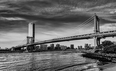 Manhattan Bridge- B&W Pano