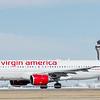Virgin powers down runway during take off