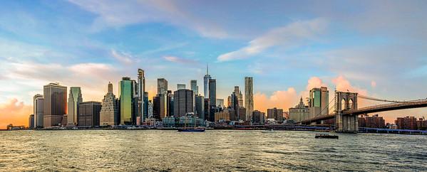 Lower Manhattan Cityscape-Pano