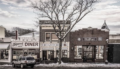 Wintry Northport Village, NY