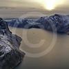 (213) The CGGS Amundsen sailing the majestic Gibbs Fjord, Baffin Island, Nunavut