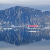 (2193) Vessel reflection on approach to Pond Inlet, Baffin Island