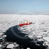 (48) The CCGS Pierre Radisson breaking ice in Amundsen Gulf