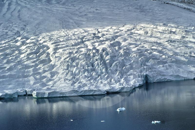 (249) Glacier flowing into Makinson Inlet, Ellesmere Island, Nunavut