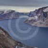 (208) The CCGS Amundsen sailing the majestic Gibbs Fjord, Baffin Island, Nunavut