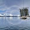 (197) Deploying the rosette from the Amundsen in Saglek Fjord, Northern Labrador