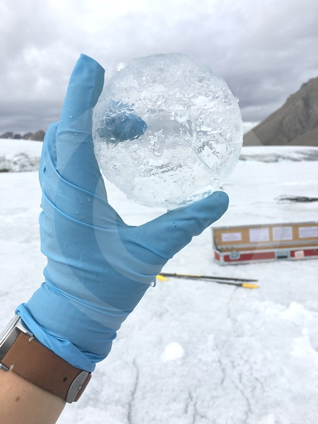 (2055) Permanent ice from Thores Lake