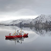 (92) CCGS Amundsen in Nachvak fjord, northern Labrador