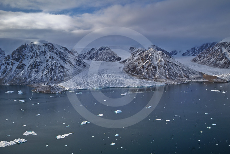 (248) Glacier flowing into Makinson Inlet, Ellesmere Island, Nunavut