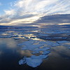 (2196) Evening sun, sea and ice in Frobisher Bay, Baffin Island