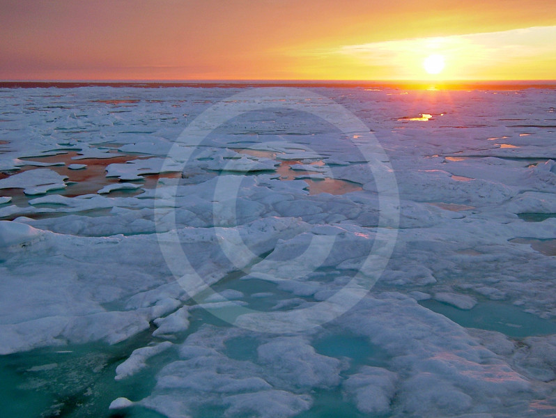 (96) Sunset over ice
